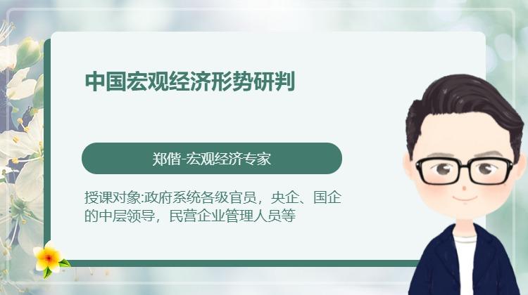 中国宏观经济形势研判